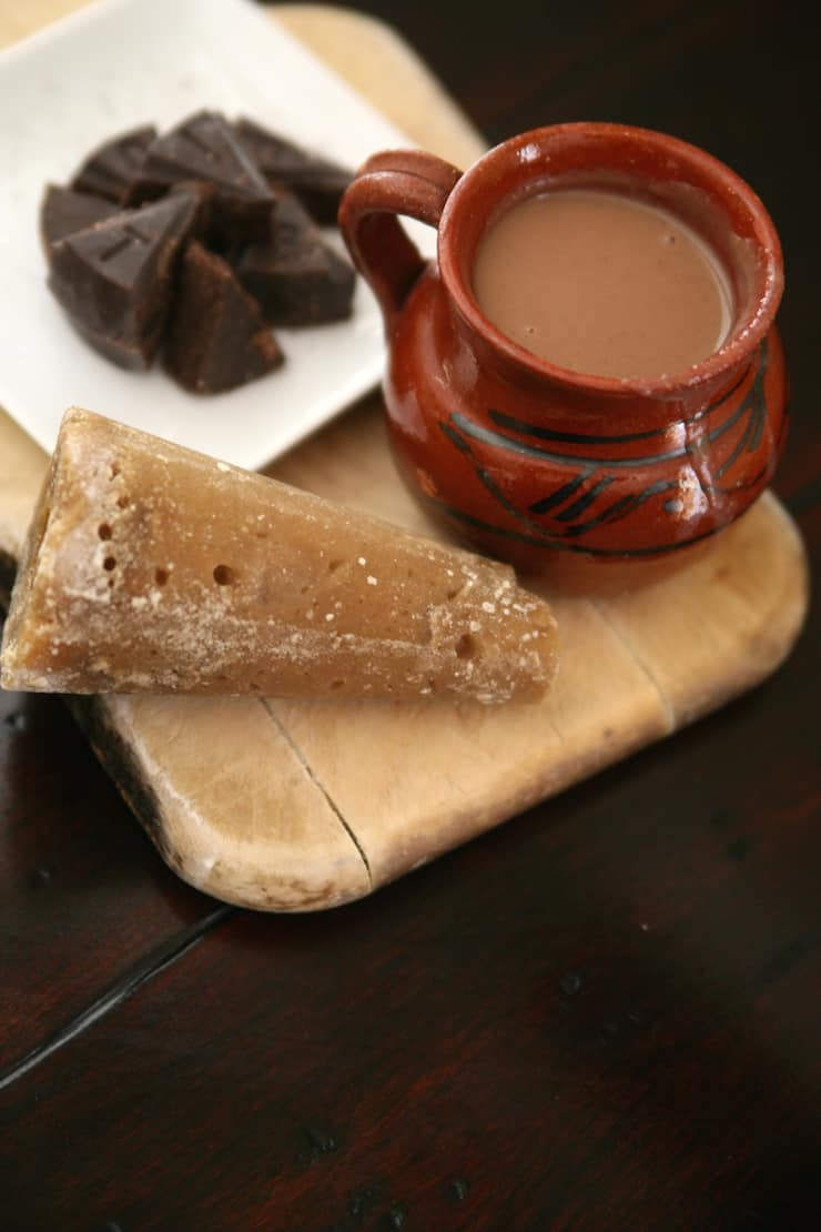 Champurrado made with Mexican chocolate and piloncillo