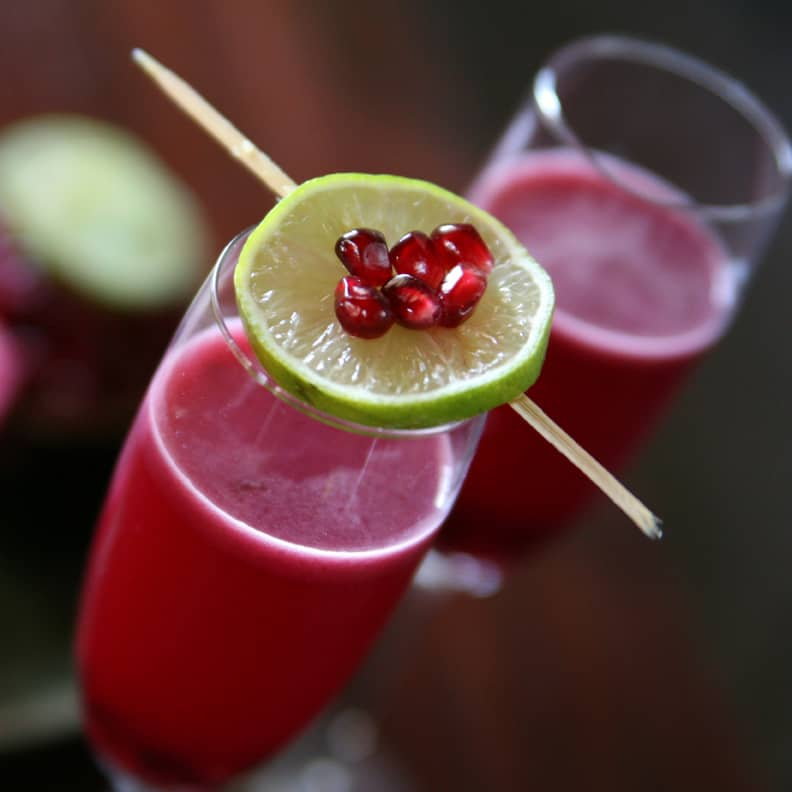 Pomegranate Grapefruit Campari Cocktail