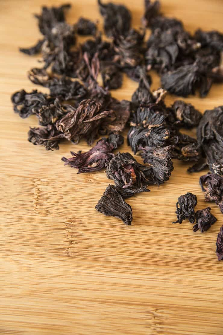 dried hibiscus to make Hibiscus-Cinnamon Tea