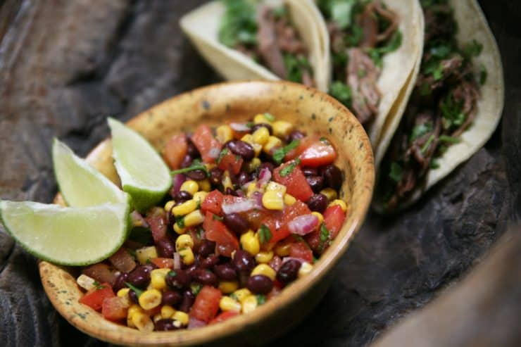 black bean salad cowboy caviar great side dish for lent