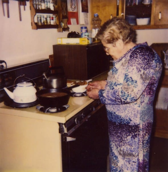grandma in kitchen