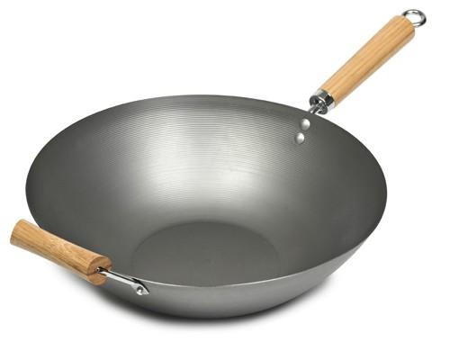 Fondo plano profundo wok