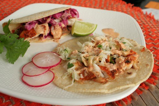 Images of Fried Tilapia Fish Tacos