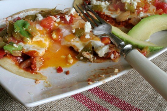 Huevos Rancheros With Smoky Spicy Guacamole And Grain-Free Tortillas ...