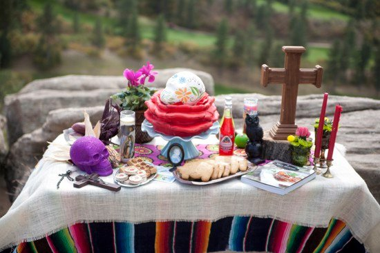 altar ofrenda for dia de muertos day of the dead