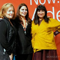 Nell Merlino, Nely Galan, and Sandra Cisneros