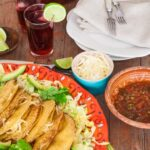Three-cheese-taco-platter-agua-de-jamaica