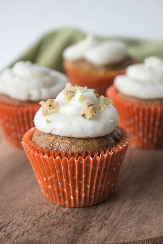 Carrot Cupcakes with Cream Cheese Frosting - Muy Bueno Cookbook