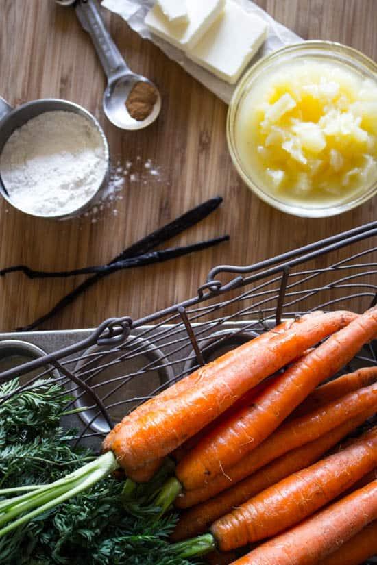 carrots-pineapple-flour-cinnamon-butter-vanilla