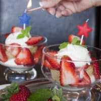 Bourbon Mint Julep Strawberry Shortcake with Mascarpone Topping