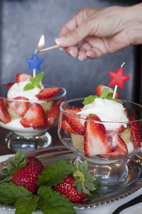 Strawberry Shortcake Mint Julep made for the 4th of July