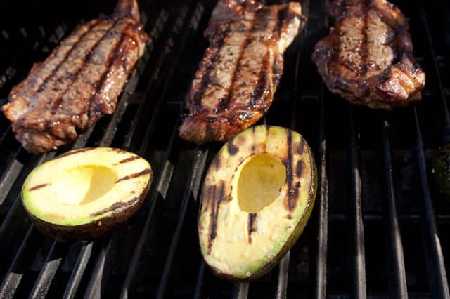 grilled avocados and tampiquena steaks