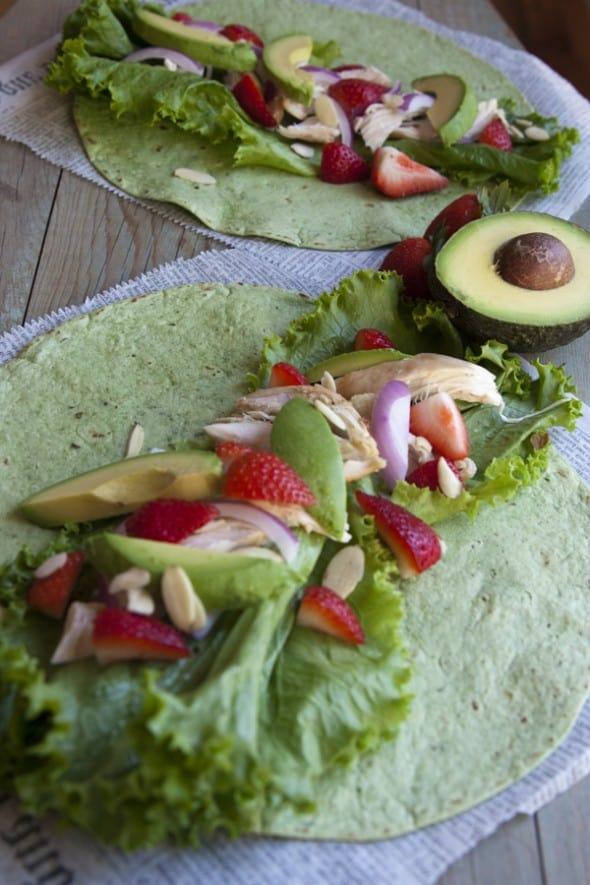 Chicken Strawberry Salad Wrap