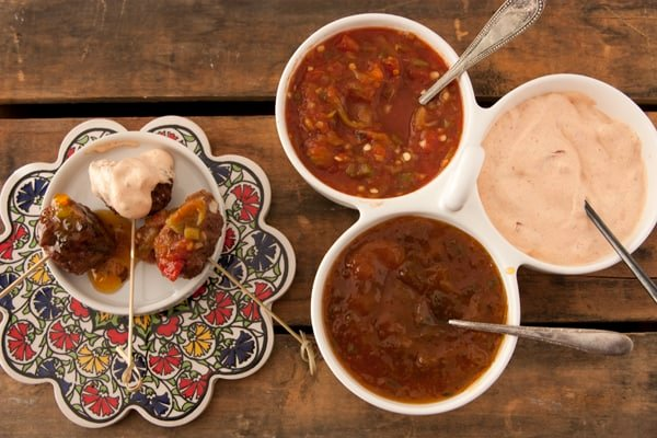 Mexican Meatballs with Three Spicy Dipping Sauces - Muy Bueno Cookbook