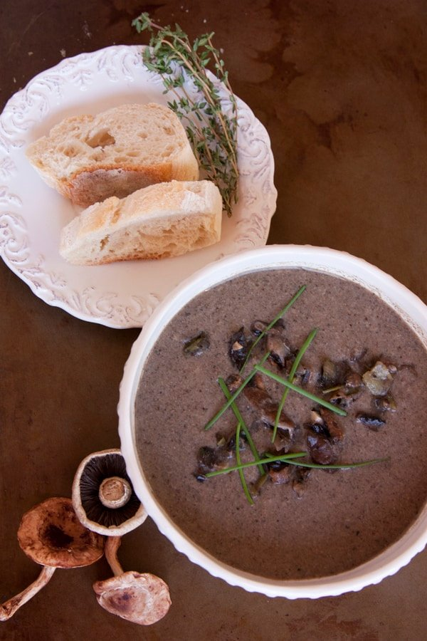 how to make wild mushroom soup