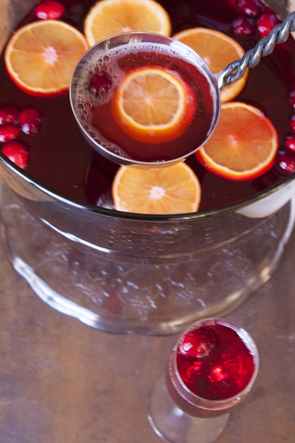 Poinsettia punch for New Years