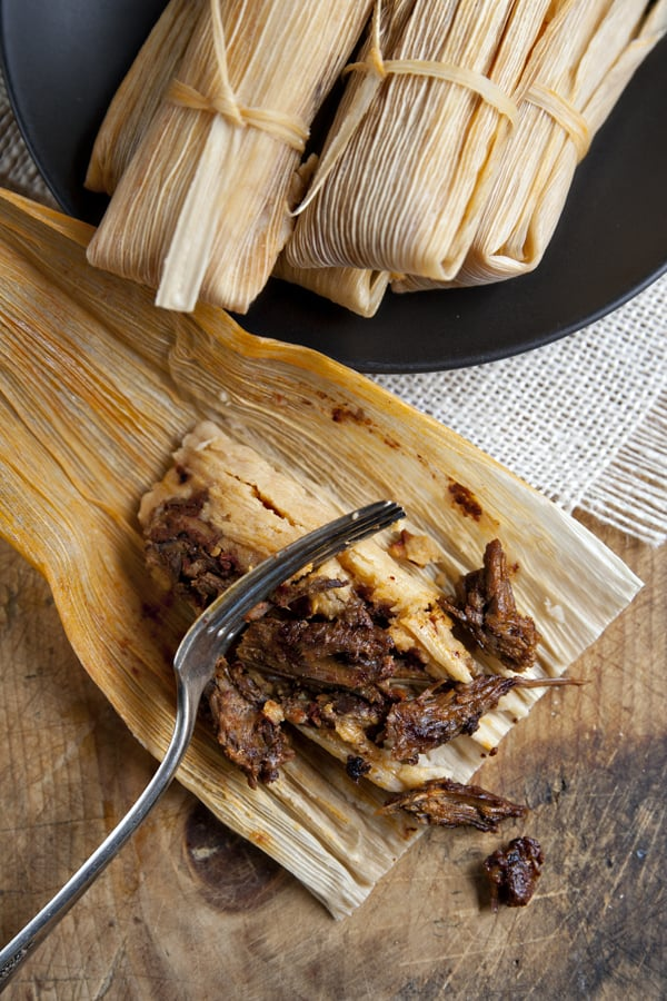 Red Chile Lamb Barbacoa Tamales