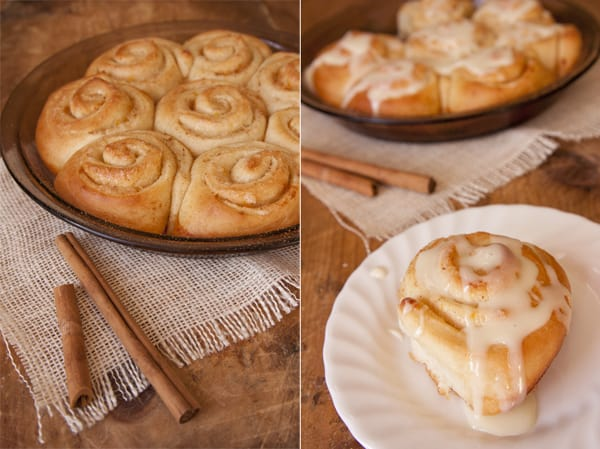 egg nog orange cinnamon rolls