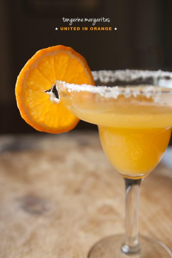 Tangerine Margaritas #unitedinorange