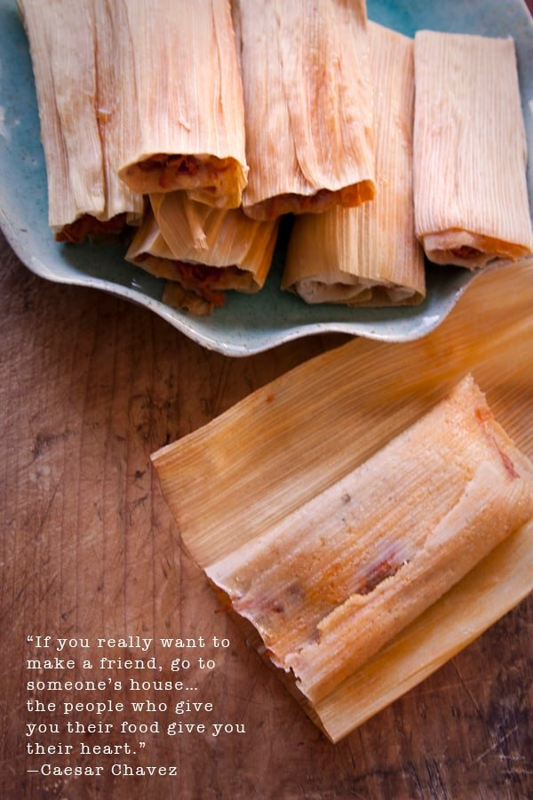 tamales - ceasar chavez quote