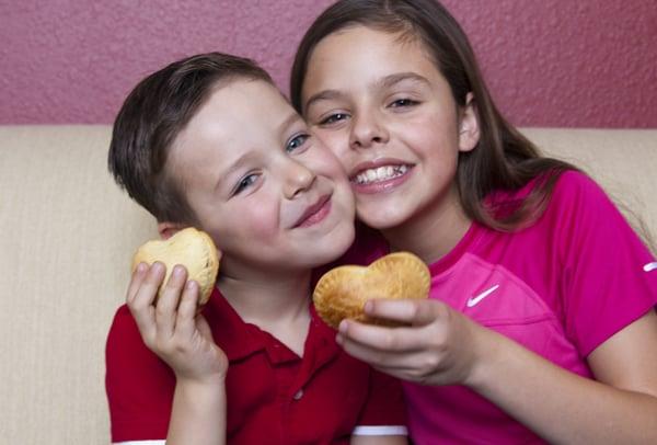 children and empanadas valentines day