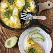 grilled chicken and pesto frittata