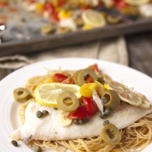 baked tilapia angel hair pasta