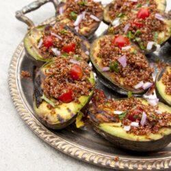 Grilled Avocado with Quinoa Salad