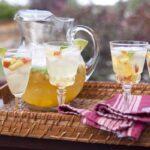 summer peach sangria