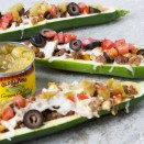 Old El Paso green chile stuffed zucchini boats