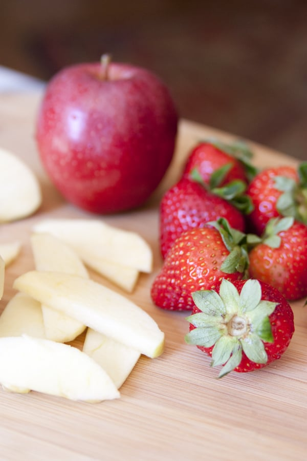apples strawberries