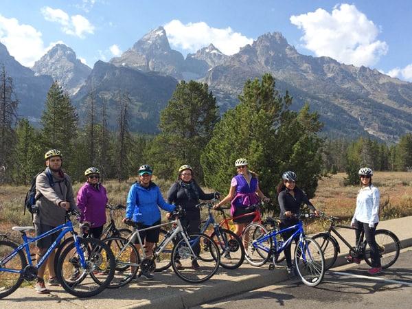 mountain bike ride teton