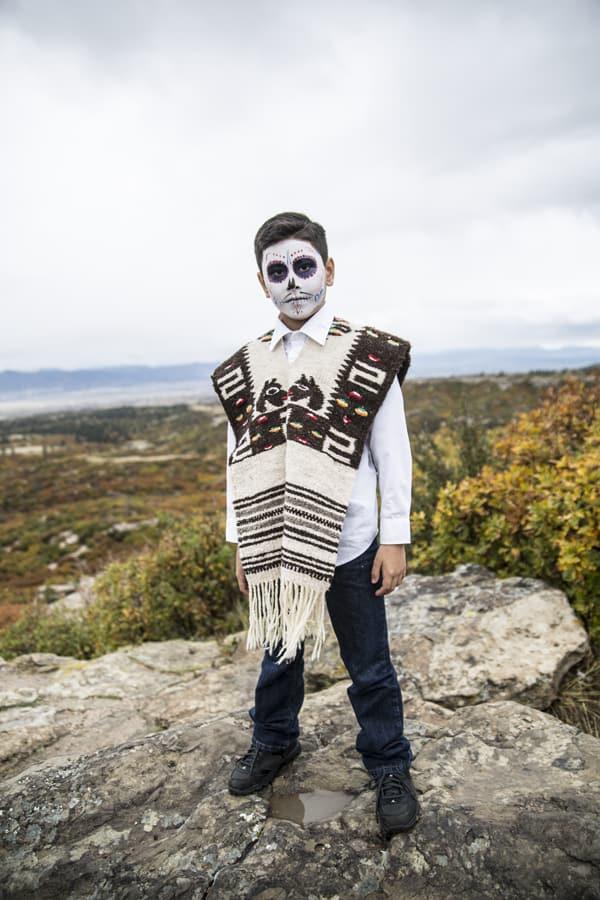 boy Mexican poncho