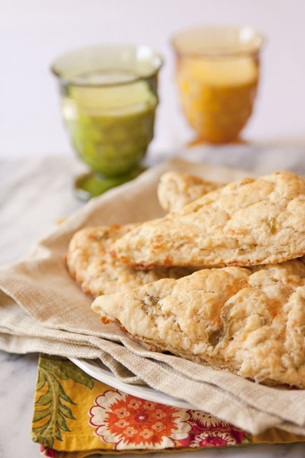 cheddar and green chile scones