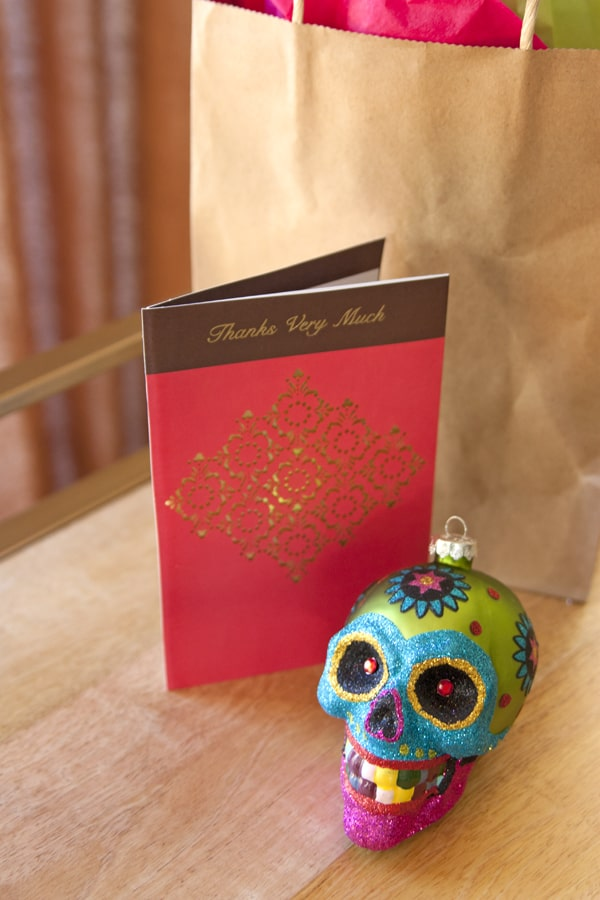 holiday painted skull day of the dead ornament