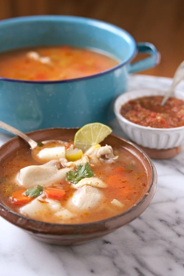 caldo de pollo economical and easy to make