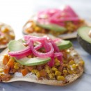 Fall vegeterian tostadas