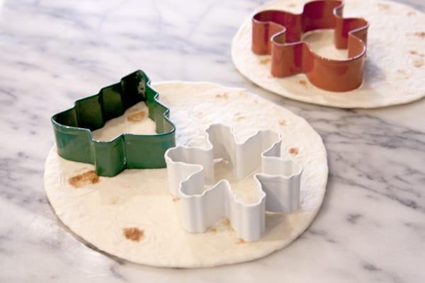 flour tortilla christmas shapes