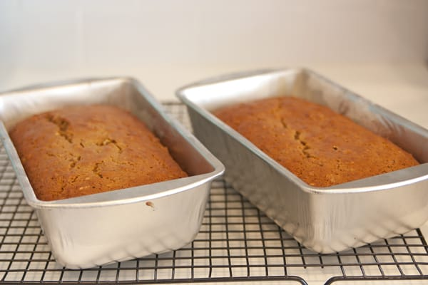 fresh pumpkin bread