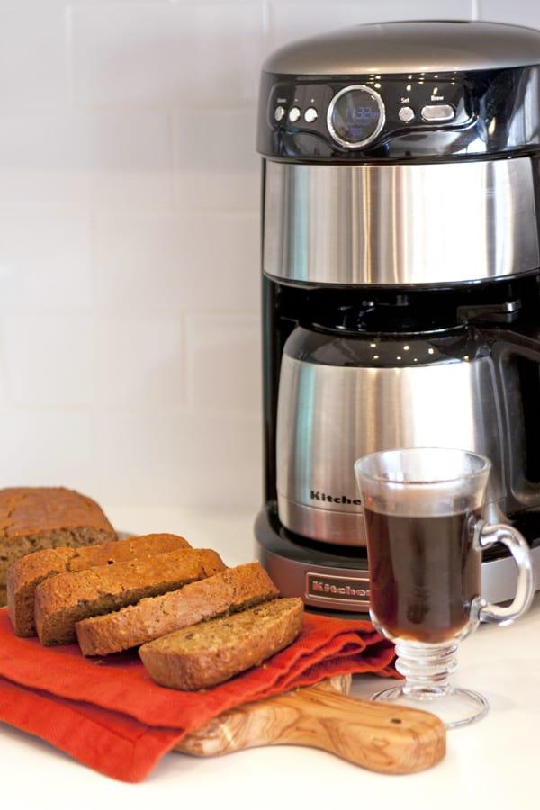 pumpkin bread and coffee-2