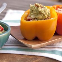 stuffed bell peppers guacamole