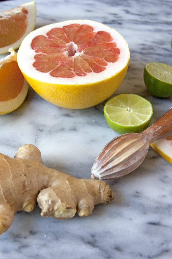 pomelo ginger lemon lime cocktail