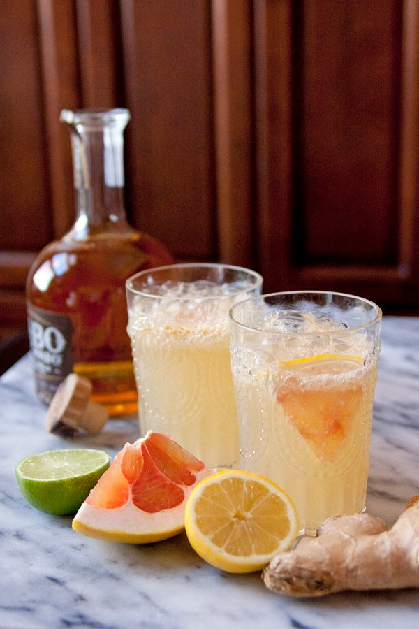 winter pomelo ginger margarita