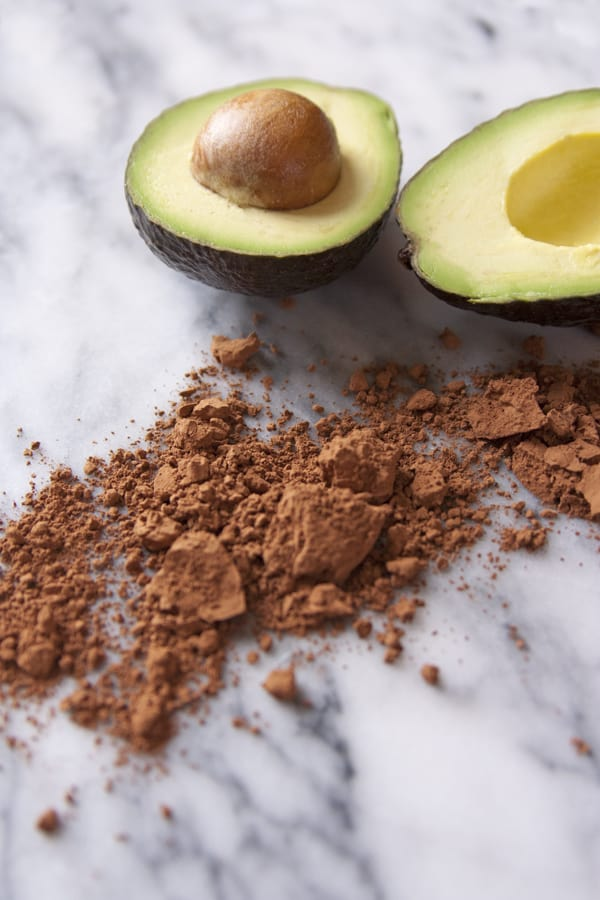 cocoa powder chocolate avocado