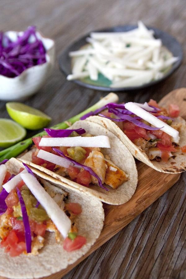 Muy Bueno Cookbook » Blackened Fish Tacos with Pico de Gallo