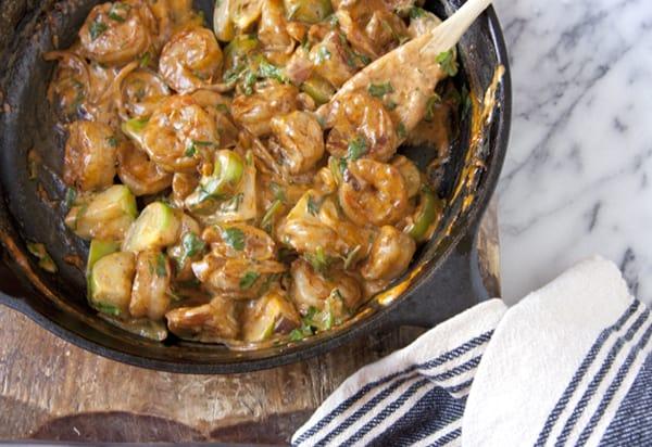 shrimp in cream sauce tomatillo