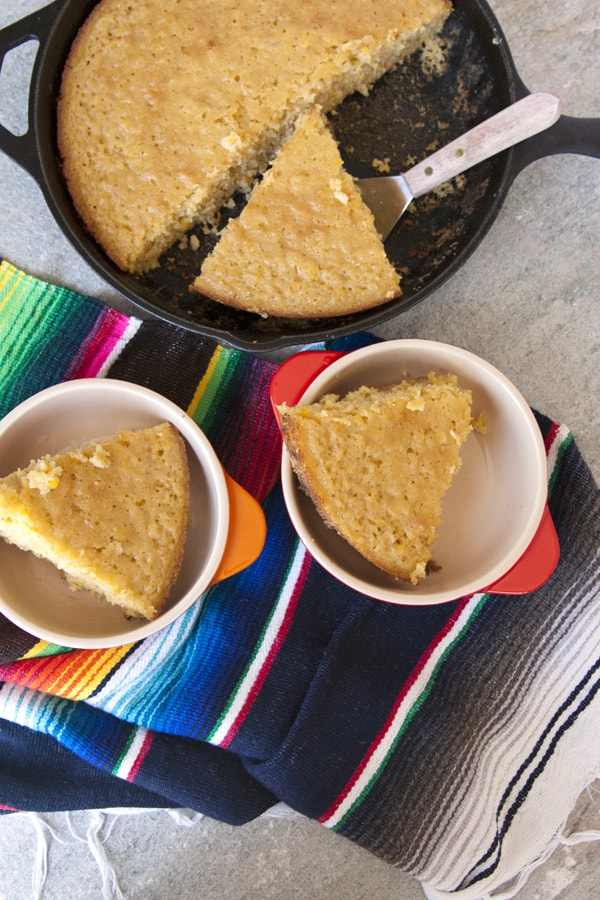 Mexican Skillet Corn Cake
