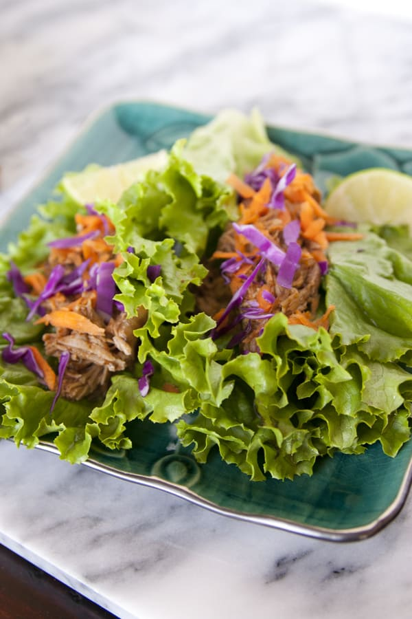 shredded pork lettuce wraps