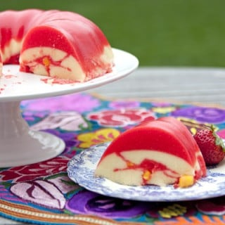 Creamy Mango Strawberry jell-o