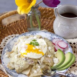 Roasted Green Chile Chilaquiles - vertical
